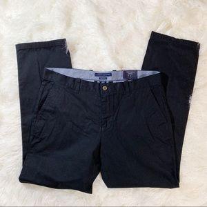 Men's NWT Tommy Hilfiger Black Chinos Pants 35X32